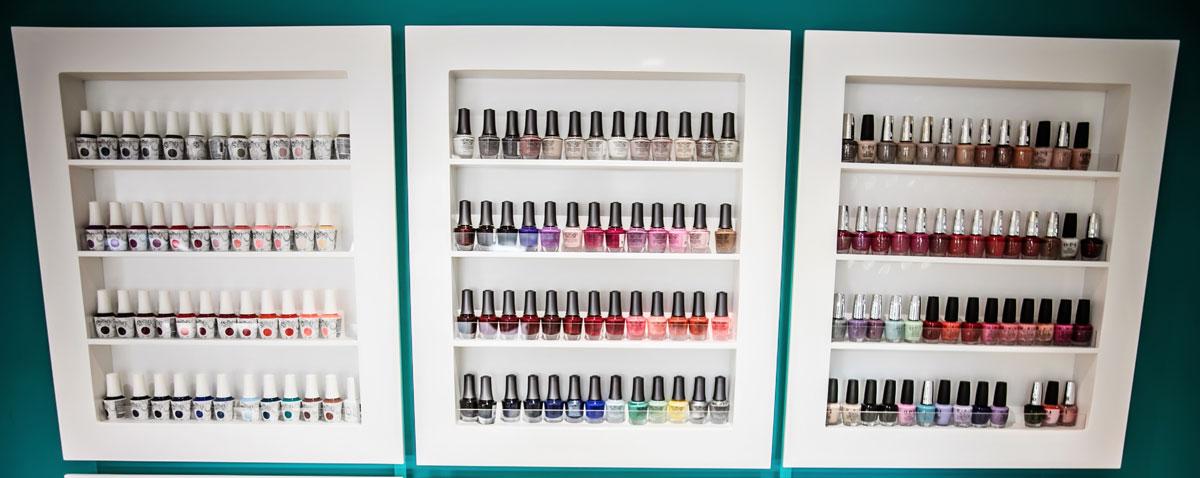 Sorbet Karaglen Mall wall of nail polish